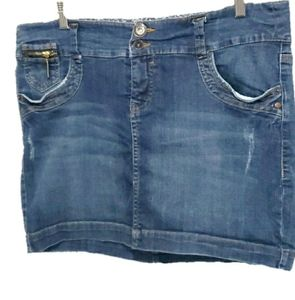 Torrid Denim Mini Skirt